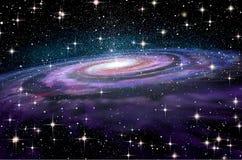 Spiraalvormige Melkweg in diepe spcae royalty-vrije illustratie