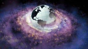 Spiraalvormige melkweg Een cluster van sterren De geboorte van sterren in nevels 65 vector illustratie