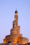 Spiraalvormige minaret van Islamitisch centrum in Doha Qatar Royalty-vrije Stock Afbeeldingen