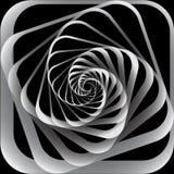 Spiraalvormige motie. Abstracte achtergrond. Stock Afbeeldingen
