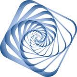 Spiraalvormige motie. Het element van het ontwerp. Stock Fotografie