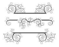 Spiraalvormige ontwerpelementen Royalty-vrije Stock Afbeeldingen