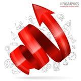 Spiraalvormige Pijl vector illustratie