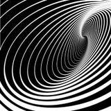 Spiraalvormige roesbeweging. Abstracte achtergrond. stock illustratie