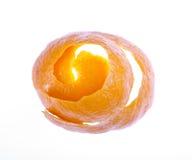 Spiraalvormige sinaasappelschil stock foto