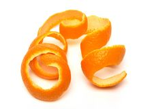 Spiraalvormige sinaasappelschil royalty-vrije stock afbeelding
