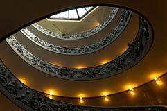 Spiraalvormige stairscase van Vatikaan. Dubbele schroef Stock Foto's