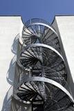 Spiraalvormige trap stock afbeelding