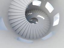 Spiraalvormige trap Royalty-vrije Stock Foto's
