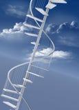 Spiraalvormige trap naar omhoog aan succes Royalty-vrije Stock Fotografie