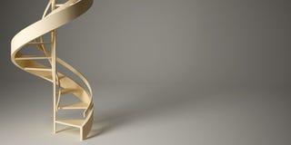 Spiraalvormige trap in studio. royalty-vrije illustratie