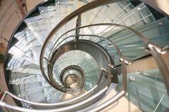 Spiraalvormige trede Stock Foto