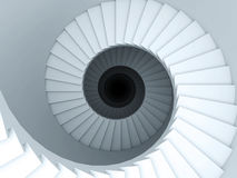 Spiraalvormige trede Royalty-vrije Stock Foto's