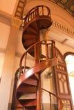 Spiraalvormige trede in Gotische stijlkerk Royalty-vrije Stock Fotografie