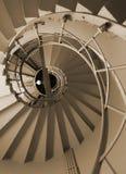 Spiraalvormige treden Stock Afbeeldingen