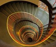 Spiraalvormige treden Stock Afbeelding