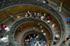 Spiraalvormige treden in de Musea van Vatikaan Stock Fotografie