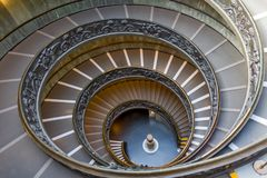 Spiraalvormige treden van de Musea van Vatikaan, de Stad van Vatikaan, Italië Royalty-vrije Stock Afbeeldingen
