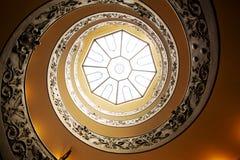 Spiraalvormige treden in Vatikaan Stock Afbeeldingen