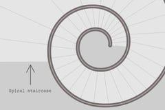 Spiraalvormige tredenvector Royalty-vrije Stock Afbeelding