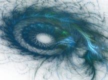 Spiraalvormige turkooise en blauwe tonen Stock Foto