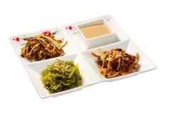 Hiyashi-wakame och beansprouts Arkivfoton