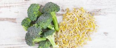 Spirad broccolifr? och ny gr?nsak Sund livsstil och n?ring arkivfoton