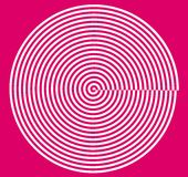 Spiral. Sarmal and magenta. it is pink vector illustration