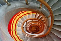 Spiral. Stairwell in the Polish palace. Royal castle in Warsaw royalty free stock image