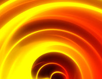 Spiral. Fantastic abstract illustration. The abstract image of fire Stock Photos