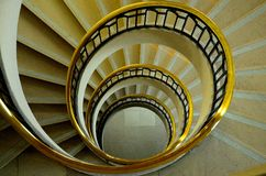 Spiral. Staircase in Troyes, France Stock Image