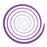 Spiral. Vector purple and dots spiral Stock Photos