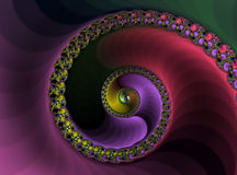 Spiral. An abstract background of a brightly colored spiral Stock Photography