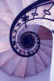 Spiral. Looking down a flight of steps in a spiral staircase Stock Image