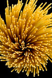 Spiral. Of pasta in background black Royalty Free Stock Photo