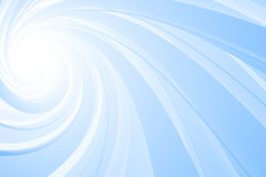 Spiral 3D, blue on white royalty free illustration