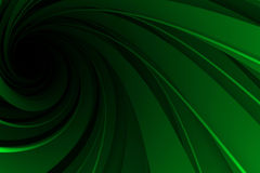 Spiral 3D, green on black Stock Image