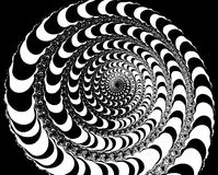 Spiral. Abstract black and white spiral illustration Royalty Free Stock Photo