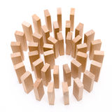 Spiral. Of blocks, conceptual image Stock Photos