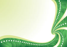 Spiral abstract background. Green spiral abstract background with gradient segments, vector illustration Stock Photos