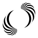 Spiral abstract background, dynamic art Stock Photo
