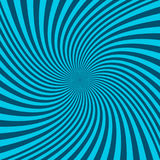 Spiral abstract background - vector graphic from twisting rays. Spiral abstract background - vector graphic from cyan twisting rays Stock Image