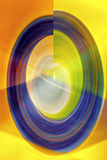 Spiral Abstract - global warming. Oval shaped spiral with overlay of a geometric pattern representative of balance or coming full circle. Image made from Royalty Free Stock Image