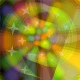 Spiral abstraction with colored lights, computer generated abstract background Stock Photo