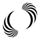 Spiral abstrakt bakgrund, dynamisk konst Arkivfoto