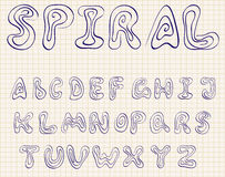 Spiral alphabet Stock Photography