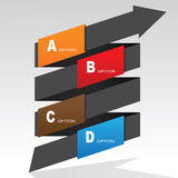 Spiral Arrow Infographic Banner Stock Image