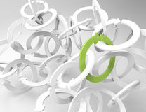 Spiral arrows 3D. Green white background Royalty Free Stock Image
