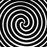 Spiral art. Black and white color spiral art work Stock Photos