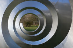 Spiral art no.1. Helix of metal as art object Royalty Free Stock Image
